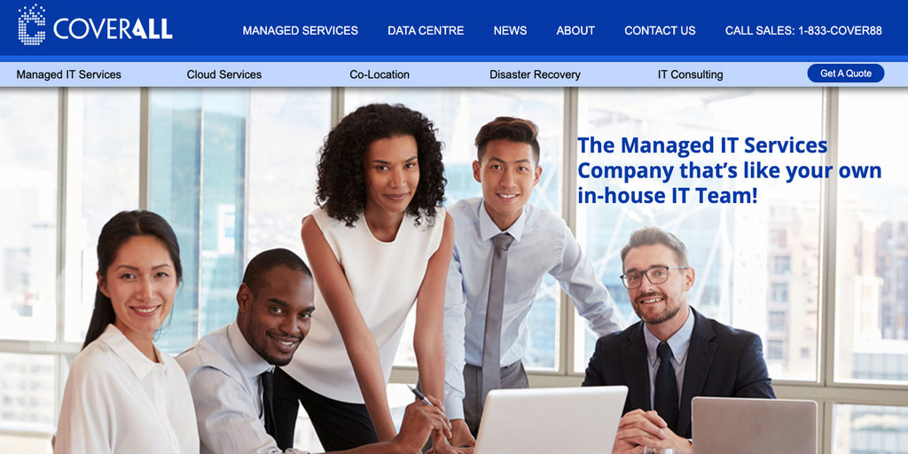 New Cover-All Managed IT Services Website Image